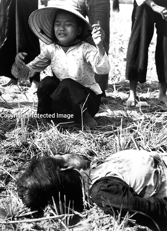 Tuy Hoa:  Fifteen civilians were killed in the explosion of a homemade Viet Cong mine on a country road.  Most of the victims were riding in a Lambretta Tricycle which struck the mine and was ripped apart by the blast.  Ca.  1966.  JUSPAO.  (USIA)<br /> EXACT DATE SHOT UNKNOWN<br /> NARA FILE #:  306-PSC-66-1047<br /> WAR & CONFLICT BOOK #:  426
