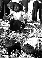 Tuy Hoa:  Fifteen civilians were killed in the explosion of a homemade Viet Cong mine on a country road.  Most of the victims were riding in a Lambretta Tricycle which struck the mine and was ripped apart by the blast.  Ca.  1966.  JUSPAO.  (USIA)<br /> EXACT DATE SHOT UNKNOWN<br /> NARA FILE #:  306-PSC-66-1047<br /> WAR &amp; CONFLICT BOOK #:  426