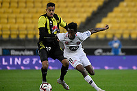 Western Sydney Wanderers FC&rsquo;s Bruce Kamau in action during the A-League - Wellington Phoenix v Western Sydney Wanderers at Westpac Stadium, Wellington, New Zealand on Saturday 3 November  2018. <br /> Photo by Masanori Udagawa. <br /> www.photowellington.photoshelter.com