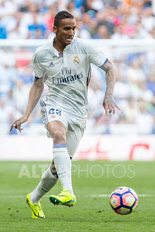 Real Madrid's Danilo Luiz da Silva during the match of La Liga between Real Madrid and Club Atletico Osasuna at Santiago Bernabeu Estadium in Madrid. September 10, 2016. (ALTERPHOTOS/Rodrigo Jimenez)