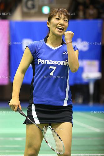 Kaori Imabeppu (JPN), .December 9, 2012 - Badminton : .The 66th All Japan Badminton Championships 2012, Women's Singles Final .at Yoyogi 2nd Gymnasium, Tokyo, Japan. .(Photo by Daiju Kitamura/AFLO SPORT) [1045]