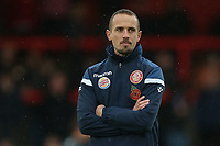 Stevenage manager Mark Sampson during Stevenage vs Peterborough United, Emirates FA Cup Football at the Lamex Stadium on 9th November 2019