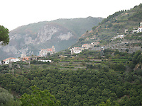 Terraced hills of the Amalfi Coast