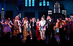 "Isabelle Mccalla, Angie Schworer, Beth Leavel, Caitlin Kinnunen, Brooks Ashmanskas, Christopher Sieber, Michael Potts and Josh Lamon during the Broadway Opening Night Curtain Call of ""The Prom"" at The Longacre Theatre on November 15, 2018 in New York City."