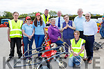 Joe Costello, valarie Ahern, Marie Healy, Damian Quigg, Calire Hoare, Brian Hunter, Ann Foley, John Murphy, Peter Cunnane and Anna Foley at the Hoare Machinery open day on Saturday in Killorglin
