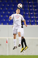 Matt Bahner (17) of the Cincinnati Bearcats. The Providence Friars defeated the Cincinnati Bearcats 2-1 during the semi-finals of the Big East Men's Soccer Championship at Red Bull Arena in Harrison, NJ, on November 12, 2010.