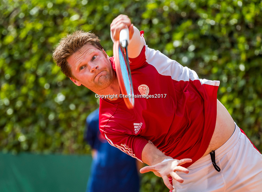 The Hague, Netherlands, 11 June, 2017, Tennis, Play-Offs Competition, Nick van der Meer, Egeria Alta<br /> Photo: Henk Koster/tennisimages.com