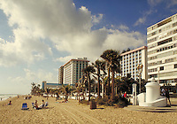 The beach at Fort Lauderdale, Florida. cityscape, modern architecture. Florida, on the beach.