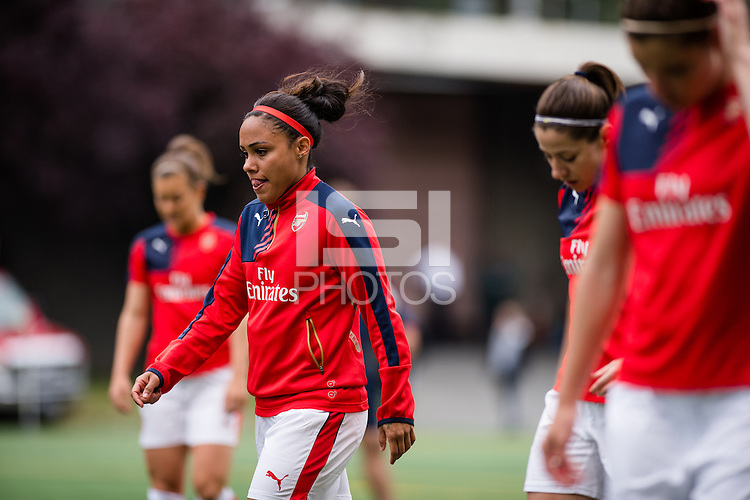 Seattle, WA - Thursday, May 26, 2016: Alex Scott (2) of the Arsenal Ladies FC. The Seattle Reign FC of the National Women's Soccer League (NWSL) and the Arsenal Ladies FC of the Women's Super League (FA WSL) played to a 1-1 tie during an international friendly at Memorial Stadium.