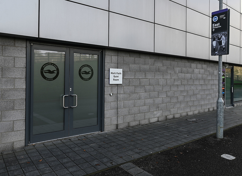 The Amex Stadium <br /> <br /> Photographer David Horton/CameraSport<br /> <br /> The Premier League - Brighton and Hove Albion v Burnley - Saturday 9th February 2019 - The Amex Stadium - Brighton<br /> <br /> World Copyright © 2019 CameraSport. All rights reserved. 43 Linden Ave. Countesthorpe. Leicester. England. LE8 5PG - Tel: +44 (0) 116 277 4147 - admin@camerasport.com - www.camerasport.com