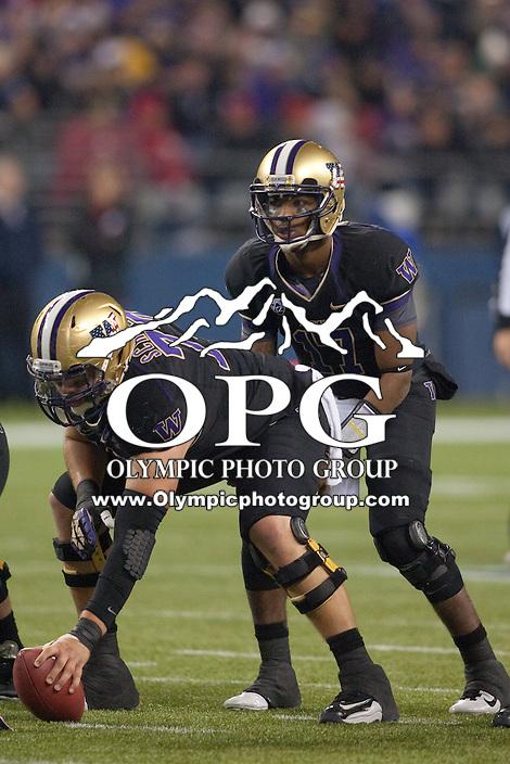 NOV 10, 2012:  Washington's Keith Price against Utah.  Washington defeated Utah  34-15 at CenturyLink Field in Seattle, WA...