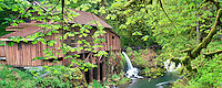 Cedar Creek Grist Mill in spring. Woodland, Washington