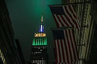 NOVA YORK, USA, 07.09.2018 - DIA-INDENPEDENCIA - Empire State Building em Nova York é iluminado de verde amarelo em homenagem ao dia de Independência do Brasil nesta sexta-feira, 07. (Foto: Vanessa Carvalho/Brazil Photo Press)