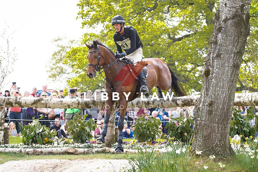NZL-Sir Mark Todd (LEONIDAS II) INTERIM-4TH: CROSS COUNTRY: 2016 GBR-Mitsubishi Motors Badminton Horse Trials CCI4* (Saturday 7 May) CREDIT: Libby Law COPYRIGHT: LIBBY LAW PHOTOGRAPHY
