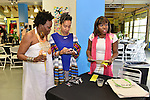 MIAMI, FL - DECEMBER 05:  Merline Joseph, Marie Vickles and Guest attend the NE2P Art Beat Miami Chef Creole Celebrity Brunch with Actor Jimmy Jean-Louis at the Little Haiti Cultural Center on Saturday December 05, 2015 in Doral, Florida.  ( Photo by Johnny Louis / jlnphotography.com )