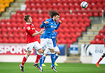St Johnstone v Ross County....SPFL Development League...19.08.14<br /> Murray Davidson and Tony Dingwall<br /> Picture by Graeme Hart.<br /> Copyright Perthshire Picture Agency<br /> Tel: 01738 623350  Mobile: 07990 594431