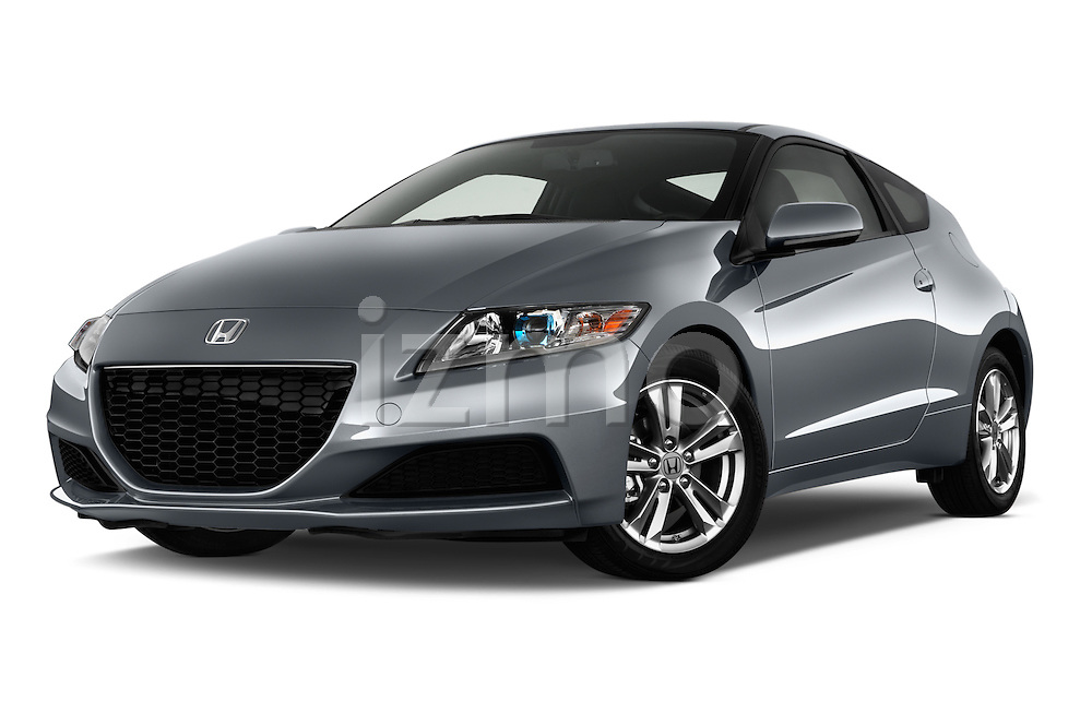 Low aggressive front three quarter view of a 2013 Honda CR-Z Hybrid Hatchback.