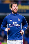 Sergio Ramos of Real Madrid in training prior to the La Liga match between Villarreal CF and Real Madrid at the Estadio de la Cerámica on 26 February 2017 in Villarreal, Spain. Photo by Maria Jose Segovia Carmona / Power Sport Images