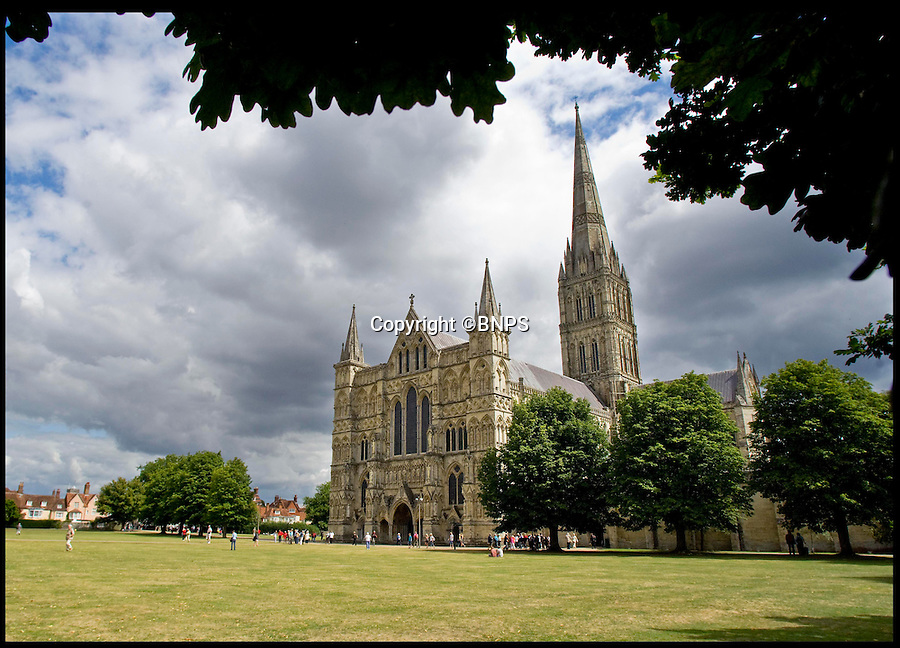 BNPS.co.uk (01202 558833)<br /> Pic: PhilYeomans/BNPS<br /> <br /> Salisbury Cathedral.<br /> <br /> John Constable's Salisbury Cathedral from the Meadows. Oil on canvas Est. £2 million.A 'lost' painting sold last year for £3,500 has gone on the market for £2 million after it was revealed to be by celebrated British artist John Constable.Experts at Christie's auction house believed a fan had painted the study of Salisbury Cathedral in homage to Constable's famous 1831 work and valued it at just £500.A buyer snapped it up for £3,500 then realised the original artwork had been painted over. After having it cleaned it was revealed to be the work of Constable, one of the world's most sought-after artists.It is now for sale with Sotheby's with an estimate of £2 million.