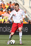 14 JUN 2010: Nicklas Bendtner (DEN). The Netherlands National Team defeated the Denmark National Team 2-0 at Soccer City Stadium in Johannesburg, South Africa in a 2010 FIFA World Cup Group E match.