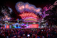 Royal Botanic Gardens Sydney - NYE 2017 fireworks.