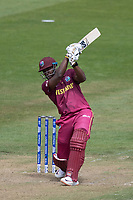 Andre Russell (West Indies) goes high over the on side during West Indies vs New Zealand, ICC World Cup Warm-Up Match Cricket at the Bristol County Ground on 28th May 2019