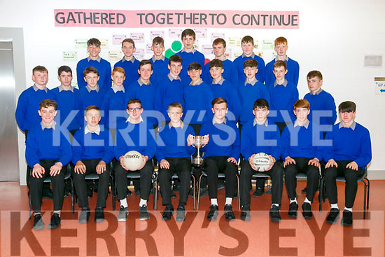 MILLTOWN  Secondary School junior Boys Football panel U16 munster champions