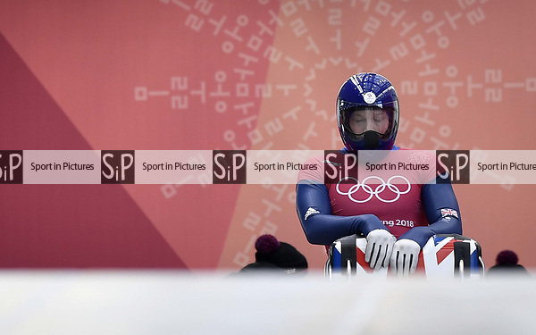 Jerry Rice (GBR). Skeleton training. Alpensia sliding centrePyeongchang2018 winter Olympics. Alpensia. Republic of Korea. 13/02/2018. ~ MANDATORY CREDIT Garry Bowden/SIPPA - NO UNAUTHORISED USE - +44 7837 394578