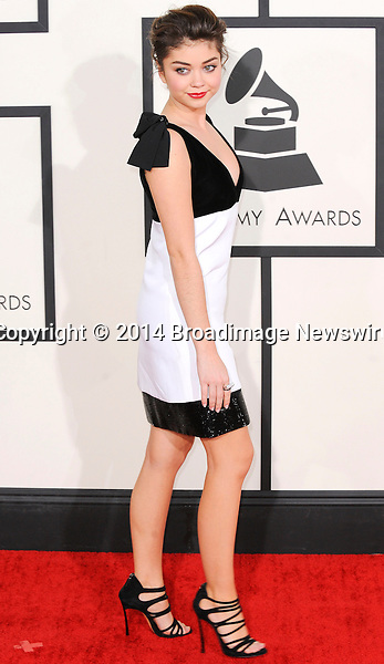 Pictured: Sarah Hyland<br /> Mandatory Credit &copy; Adhemar Sburlati/Broadimage<br /> The Grammy Awards  2014 - Arrivals<br /> <br /> 1/26/14, Los Angeles, California, United States of America<br /> <br /> Broadimage Newswire<br /> Los Angeles 1+  (310) 301-1027<br /> New York      1+  (646) 827-9134<br /> sales@broadimage.com<br /> http://www.broadimage.com