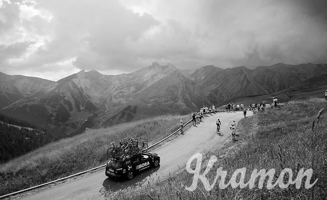 Jan Bárta (CZE/Bora-Argon18) up the Col d'Allos (1C/2250m/14km/5.5%)<br /> <br /> stage 17: Digne-les-Bains - Pra Loup (161km)<br /> 2015 Tour de France
