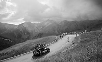 Jan B&aacute;rta (CZE/Bora-Argon18) up the Col d'Allos (1C/2250m/14km/5.5%)<br /> <br /> stage 17: Digne-les-Bains - Pra Loup (161km)<br /> 2015 Tour de France