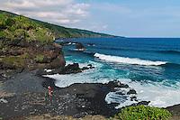 Rugged coastline of Maui in Hawaii