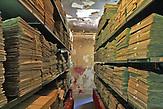 Das Übergangs-Lager der National- und Universitätsbibliothek Bosniens (NUB) Sarajevo.
