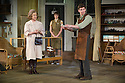 London, UK. 13.06.2014. Regent's Park Open Air Theatre presents HOBSON'S CHOICE, by Harold Brighouse. Directed by Nadia Fall. Picture shows:  Joanna David (Mrs Hepworth), Hannah Britland (Vickey Hobson), Karl Davies (Will Mossop). © Jane Hobson.