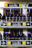 A general view of the Savills boxes in the South Stand. Aviva Premiership match, between Bath Rugby and Saracens on April 1, 2016 at the Recreation Ground in Bath, England. Photo by: Patrick Khachfe / Onside Images