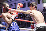 Shaquille Day vs Stanislav Nenkov 4x3 Welterweight contest During Goodwin Boxing: Christmas Carnage. Photo by: Simon Downing.<br /> <br /> Saturday 3rd December 2016 - York Hall, Bethnal Green, London, United Kingdom.