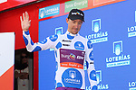 Angel Madrazo Ruiz (ESP) Burgos-BH retains the mountains Polka Dot Jersey at the end of Stage 14 of La Vuelta 2019  running 188km from San Vicente de la Barquera to Oviedo, Spain. 7th September 2019.<br /> Picture: Luis Angel Gomez/Photogomezsport | Cyclefile<br /> <br /> All photos usage must carry mandatory copyright credit (© Cyclefile | Luis Angel Gomez/Photogomezsport)