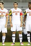 12 October 2012: Maryland's Dakota Edwards. The University of Maryland Terrapins defeated the Duke University Blue Devils 2-1 at Koskinen Stadium in Durham, North Carolina in a 2012 NCAA Division I Men's Soccer game.