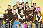 SETTLING IN: Junior infants settled in very well during their first day in Scoil Mhic Easmainn, Tralee, on Friday. From front l-r were: Patricia Ní Aileasa, Tomas O hAinifein, Sophie Lowham, Robyn de Mordha and Leah Nic Ionnrachtaigh. Middle l-r were: Leon O Shé-O Gallchoir, Tomas O Laoide, Eanna O Conchuir, Jack O Suilleabháin and Ivan O Murchu. Back l-r were: Abi Ní Chathasaigh, Reitseal Ní Odhrain, Leah Ní Odhrain and Leanne Ní Bhuachalla.