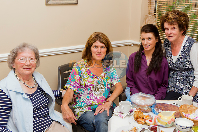 Laura Rogers, Anne Kerrisk, Hollie Tremarco and Rose Tiernan at the Coffee Morning in aid of the Drogheda Alzheimer's Group..Picture: Shane Maguire / www.newsfile.ie.