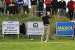 Final Day of the 100th Irish PGA championship at Seapoint Golf Club, Co Louth..David Mortimer teeing off on the 9th..Picture Fran Caffrey/www.golffile.ie.