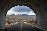 The tunnel in Big Bend National Park with a view of the Sierra Del Carmen mountains just another great Texas landscape.