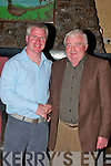 RETIRING: Aidan Galvin, outgoing chairman of Finuge GAA and Eamon Breen pictured at a function in his honour in McCarthy's Bar, Finuge, on Friday night. Copyright Kerry's Eye 2008