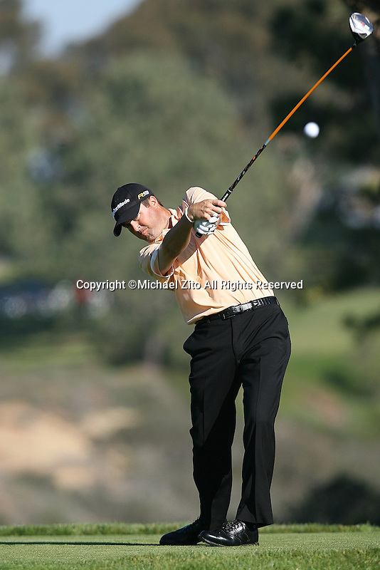 01/28/10 San Diego, CA: Ryan Palmer during the fist round of the Farmers Insurance Open. A PGA tournament held at Torrey Pines Golf Course.