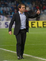 Real Sociedad's coach Jagoba Arrasate during La Liga match.November 23,2013. (ALTERPHOTOS/Mikel)