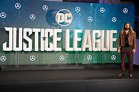 "Jason Momoa<br /> at the ""Justice League"" photocall,  London<br /> <br /> <br /> ©Ash Knotek  D3345  04/11/2017"