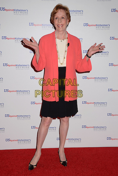 Carol Burnett<br /> Los Angeles premiere of &quot;Surviving Grace&quot; at the Stephen J. Ross Theater on the Warner Bros. Studios lot in Burbank, California, USA.<br /> September 25th, 2013<br /> full length pink salmon blazer white top black skirt hands arms<br /> CAP/ADM/BT<br /> &copy;Birdie Thompson/AdMedia/Capital Pictures