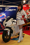 Mar 26, 2010 - Tokyo, Japan - A campaign girl of tSuzuka Circuit poses during the 37th Tokyo Motorcycle Show at Tokyo Big Sight on March 26, 2010. The event is the Japan's largest motorcycle exhibition and it will be held until March 28 this year. (Photo Laurent Benchana/Nippon News)