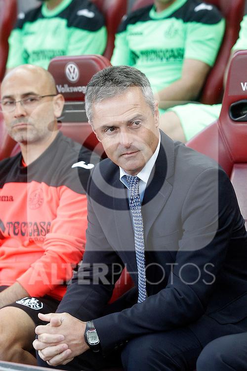 Getafe's coach Fran Escriba during La Liga match.September 22,2015. (ALTERPHOTOS/Acero)