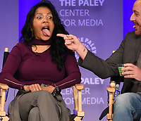 "HOLLYWOOD, CA - MARCH 17: Penny Johnson Jerald and Scott Grimes at the PaleyFest 2018 - ""The Orville"" panel at the Dolby Theatre on March 17, 2018 in Hollywood, California. (Photo by Scott Kirkland/Fox/PictureGroup)"